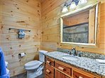 The second master bathroom also offers a walk-in shower.