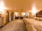 The King's Suite offers plenty of room for guests.