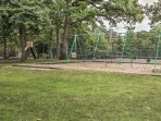 The kids will love swinging away on the playset