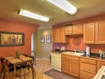 The lower level features a second fully equipped kitchen.