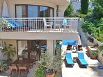 Set over 2 floors with private terraces, the Pearl has a 'villa' feel