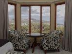 Bay suite bedroom view