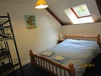 The upstairs double bedroom