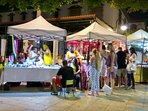Night market in nearby La Cala