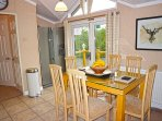 Comfortable Dining space and American Fridge Freezer