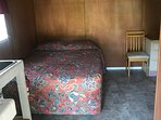 queen bed with chair dresser