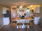 New kitchen in 7/17...stainless appliances, quartz & buttherblock countertops,