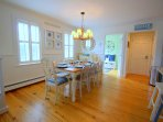 Open full size dining room perfect for family meals or game nights