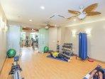 Gym also features a yoga studio