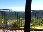 Balcony overlooking the view to the south and Claviers