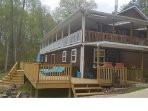 Norris Lake Front Custom Apartment, 2 Adjoining Rooms across Deck, Tiny Home! 28 Miles 2 Knoxville!