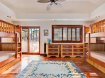 Bedroom 4 with Two Sets of Twin Bunk Beds