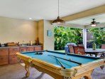 Billiards Table Located on Covered Pool Side Lanai