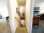 Hallway leading downstairs