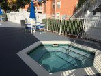 Jacuzzi just steps from rear sun deck !