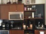 Fully Equipped Kitchen, Wine Cooler, Apt size Refrigerator