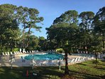 Community Pool is located between Condo and Salty Dog.  Buy passes at South Beach Marina Inn.