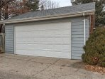 2 car garage with access from alley