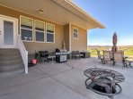 The outside patio will quickly become your favorite place to unwind, providing an outdoor dining set, gas grill...