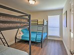 The kids will love the third bedroom with twin-over-twin and twin-over-full bunk beds.