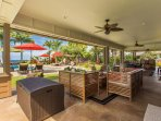 Outdoor Living and Pool Area