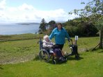 Visit the gardens , or just walk along the Crinan canal ..all wheel chair friendly.