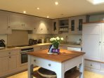 All mod cons is the beautiful fitted kitchen