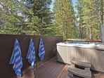 Take a dip in the hot tub after a day on the lake or skiing