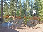 Fenced off backyard for privacy