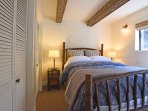 Master bedroom, queen bed and private bathroom
