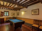 Pool room between front hall and kitchen