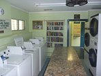 Clean laundry room and library are available for your use located across the driveway.