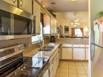 The kitchen is equipped with everything required to prepare your favorite recipes.