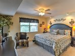 All 3 rooms feature king-sized beds - sure to provide a restful night's sleep!