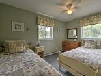 The guest bedroom is equipped with 2 comfortable twin-sized beds.