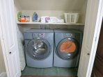 NEW HIGH EFFICIENCY WASHER AND DRYER ARE UPSTAIRS EXACTLY WHERE YOU NEED TO DO YOUR LAUNDRY
