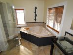 The Master Ensuite with huge whirlpool tub