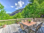 This 3-bedroom, 2.5-bathroom vacation rental cabin in the Cashiers area offers incredible views of the Blue Ridge...