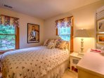 Enjoy restful nights of sleep in this comfortable queen bed.