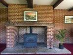 Main Living Space -  Large open Brick Inglenook fireplace
