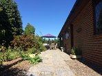Flagstone Patio Space and Garden