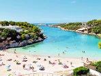 Playa Cala Santandria a tan solo 300m de la casa