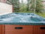 Relax in the great outdoors in your very own hot tub!