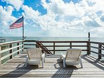 Relax and take sun on top of the boathouse. We love the continuous breeze out here.