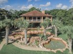 Beautiful landscaping, 3 gorgeous pools and a huge garden to play and meet people.