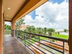 Enjoy the views from the private balcony, with private stair access from the pool.