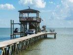 Extra wide pier