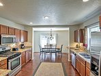Try out a new recipe with the home's modern appliances!