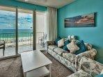 Majestic Sun 403B - Living Room with Great gulf Views