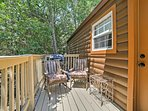 You'll love relaxing on the tree-shaded deck!